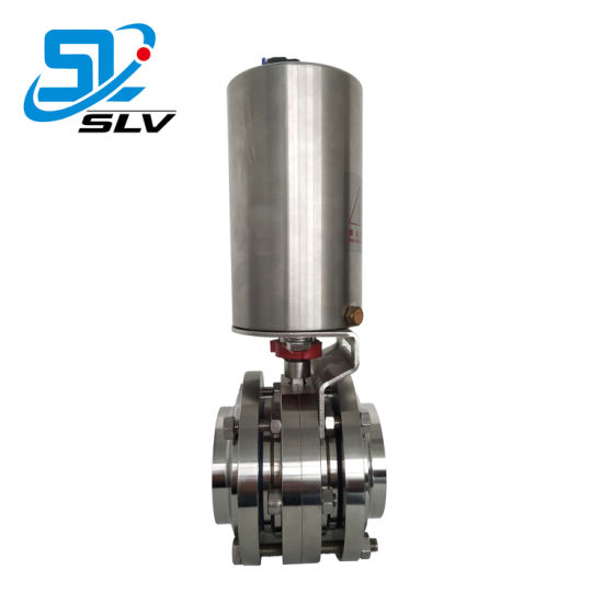 Stainless Steel Sanitary Electric Actuator Price List Butterfly Valve