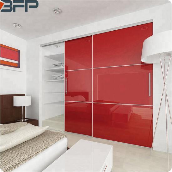 China Modern Design Bedroom Furniture High Gloss Sliding Door Wooden Wardrobe Closets China Wardrobe Wardrobes
