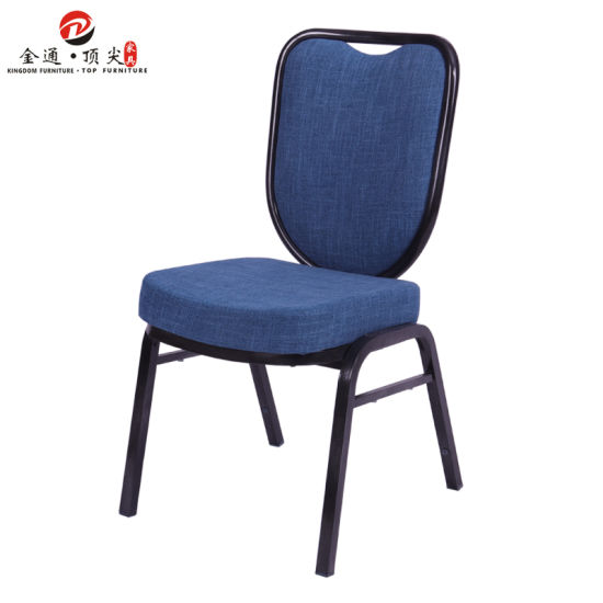 Blue Cloth Stackable Meeting//Conference Chair