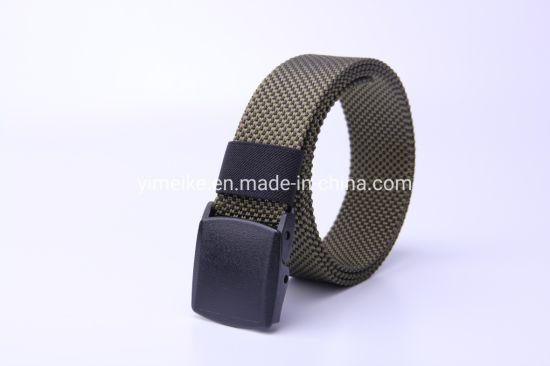 Wearproof Smooth Buckle Prevent Allergy Nylon Fabric Belt Men