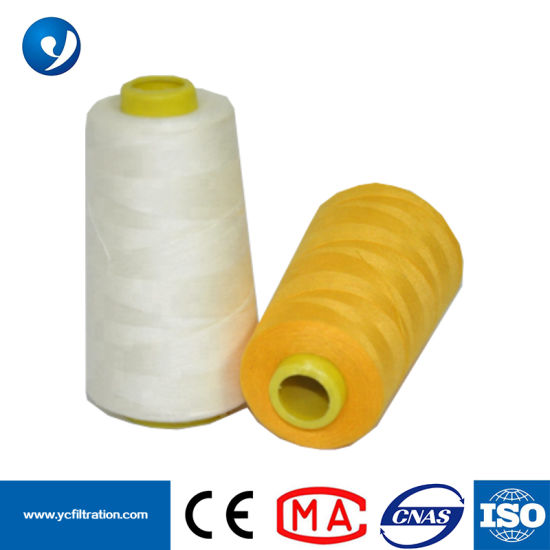 China PTFE Teflon Sewing Thread Dust Filter Bag Thread for