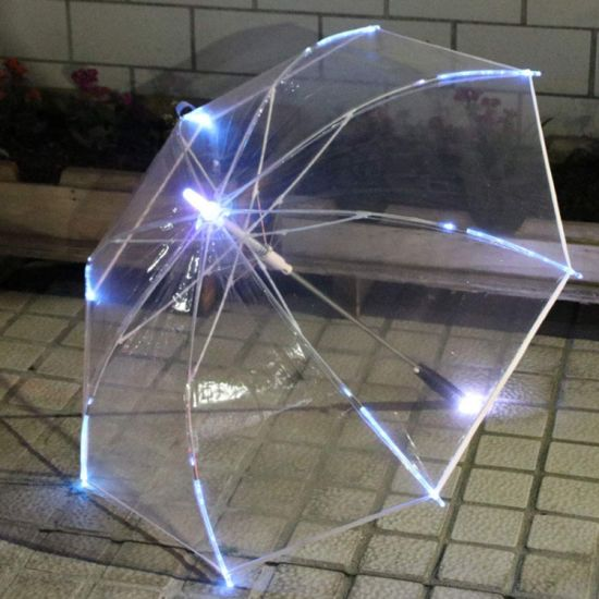 LED Umbrella Golf Umbrella on The Shaft/Built in Torch on Bottom pictures & photos