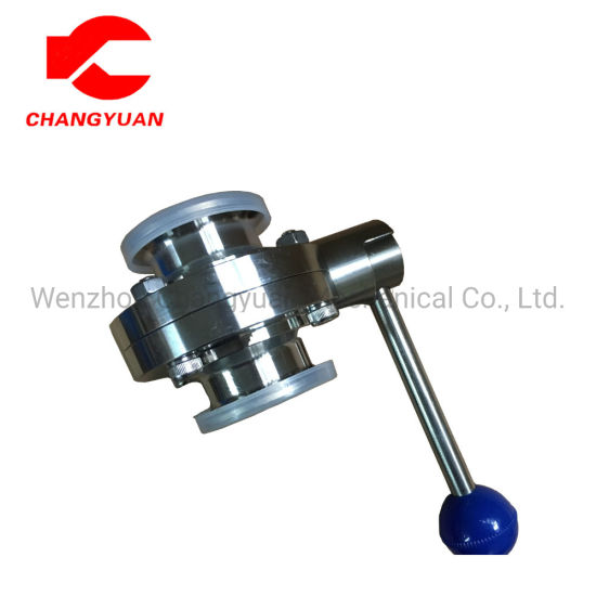 Food Grade Sanitary Stainless Steel Handle Welded Butterfly Valve pictures & photos