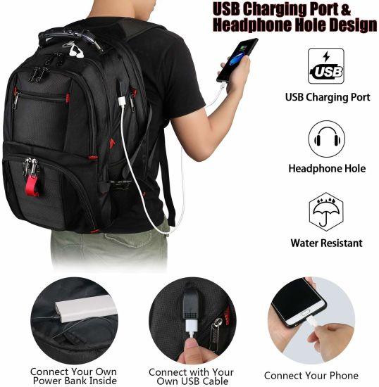 """Waterproof Travel Backpack 17/"""" Laptop Outdoor Camping Hiking School Shoulder Bag"""
