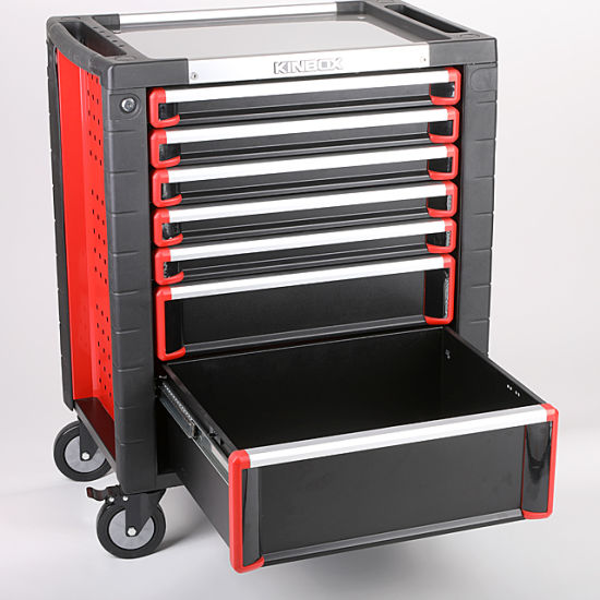 Kinbox Wholesale Popular Red Classical 7 Drawer Tool Box Roller Cabinet China Supplier