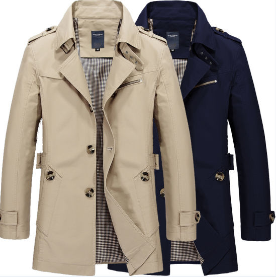 Autumn Stand Collar 100% Cotton Fashion Casual Button New Casual Men's Jacket, Coat
