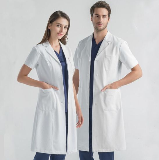 Cotton 80% Polyester 20% Combed Cotton Blend Lab Coat White Lab Coat