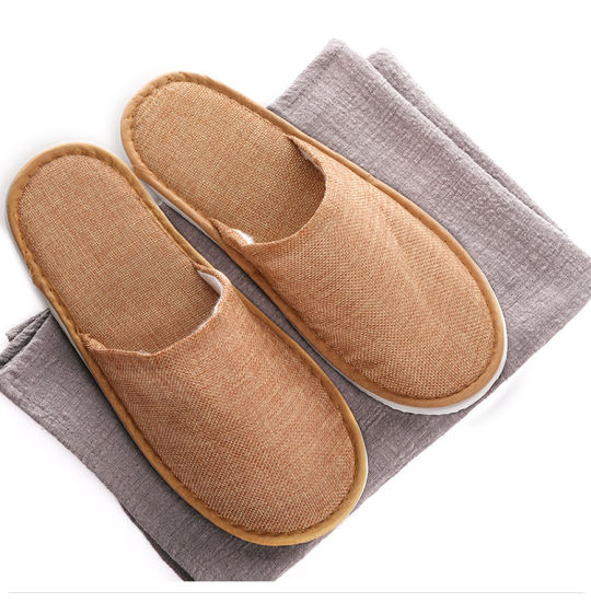 Close Toe Cotton and Linen Slippers