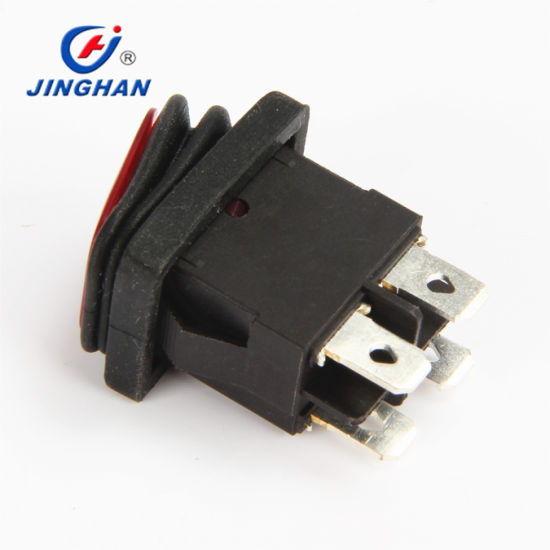 4 Pin on off Rocker Switch with LED Light Indicator Ce RoHS