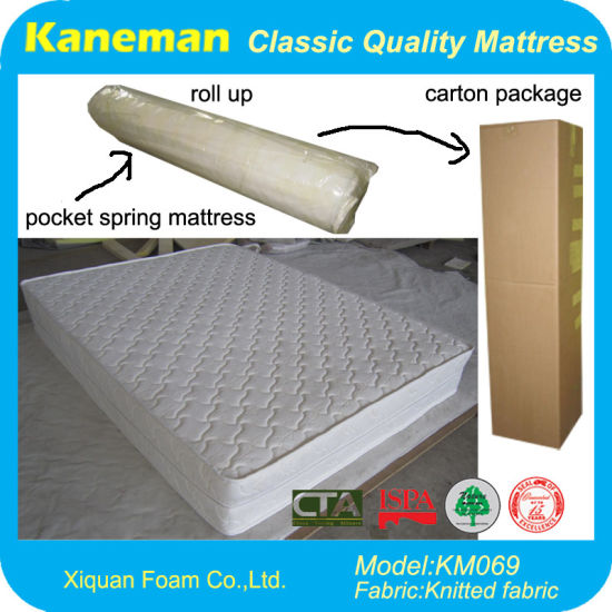 2015 Sweet Dreams Home Furniture Pocket Coil Spring Mattress Rolled in a Box pictures & photos