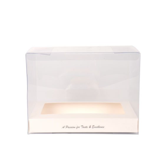 Eco-Friendly Custom Logo Folding Clear Plastic Cake Pet Box
