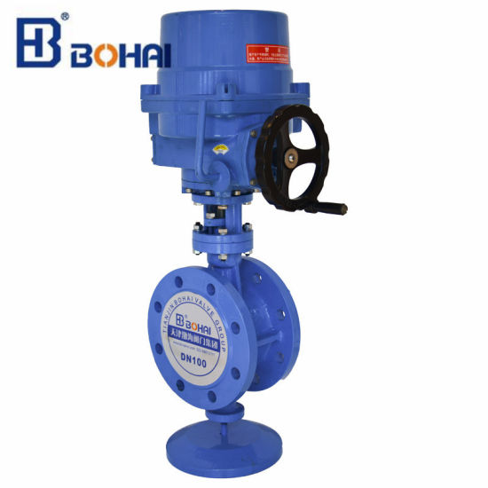 Electric Actuator Flanged Butterfly Valve with ISO & CE Cetification