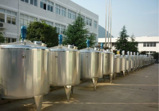 China 150 Gallon Stainless Steel Tank Cone Top Mixing Tank