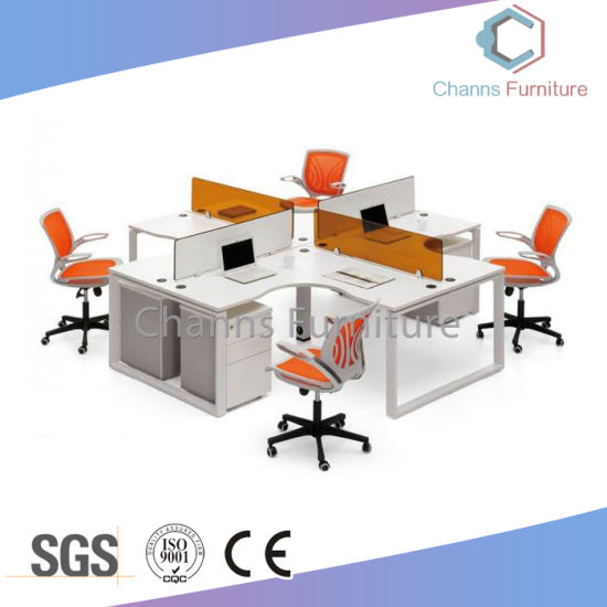 China Modern White Computer Desk Round Office Workstation