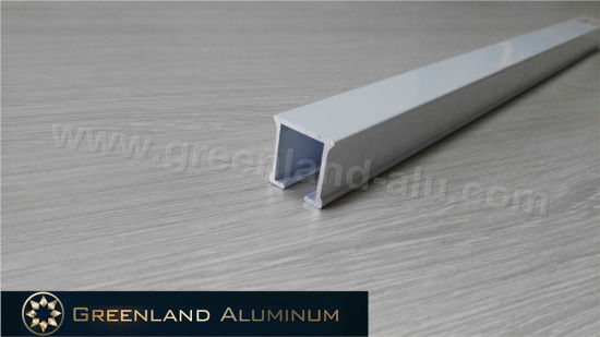 Manual Operated Sliding Aluminum Curtain Track with Powder Coating White pictures & photos