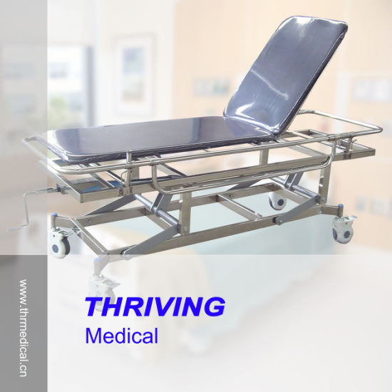 Medical Rise-and-Fall Stainless Steel Trolley Cart (THR-E-5) pictures & photos
