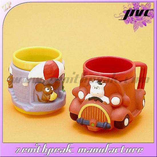 Kids 3D Plastic Soft PVC Cartoon Drinking Cups