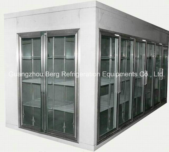 China Convenient Store Glass Door Walk In Display Cooler With Swing