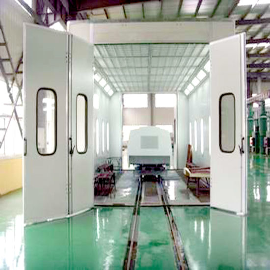 Bus Paint Booth with Heat Insulation Panel and Ground Rail