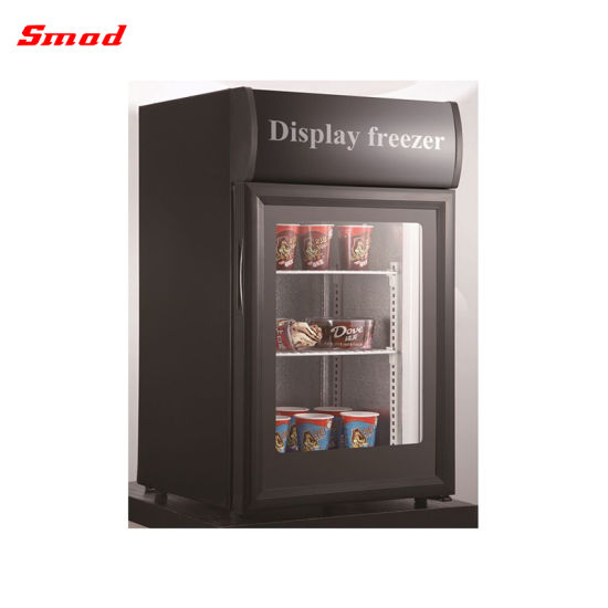 China Glass Door Counter Top Display Freezer Mini Ice Cream Freezer