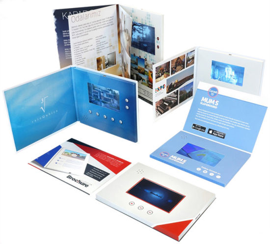 Factory Custom Video Player Download Video LCD Business Card Video Brochure for Advertising pictures & photos