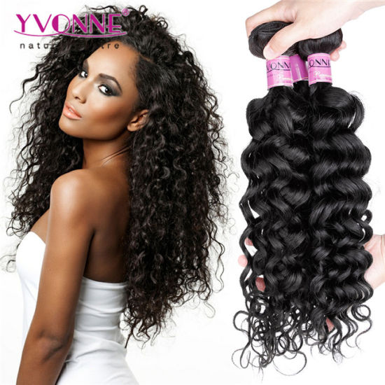 Human Hair Weave Curly Virgin Brazilian Hair pictures & photos