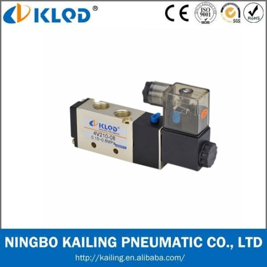 Pneumatic Valve/Two-Position Five-Way /Aluminum Alloy Air Solenoid Valve pictures & photos