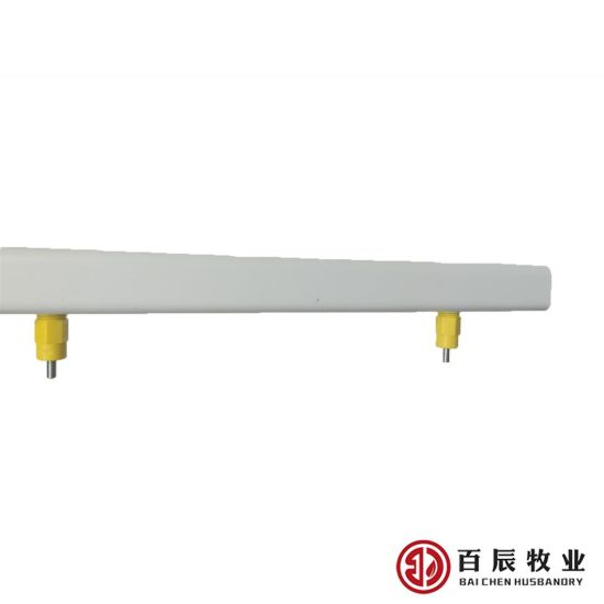 Square PVC Pipe with Nipples for Chicken Drinking Water Equipment