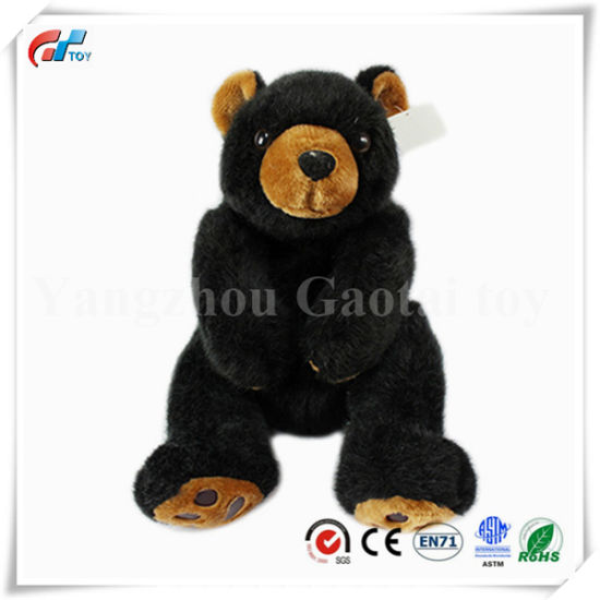 Wholesale Black Bear Plush Toy with Footprint