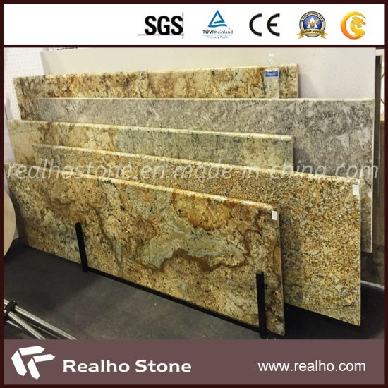 Yellow Granite Slab/Countertop for Kitchen (RHCA-017)