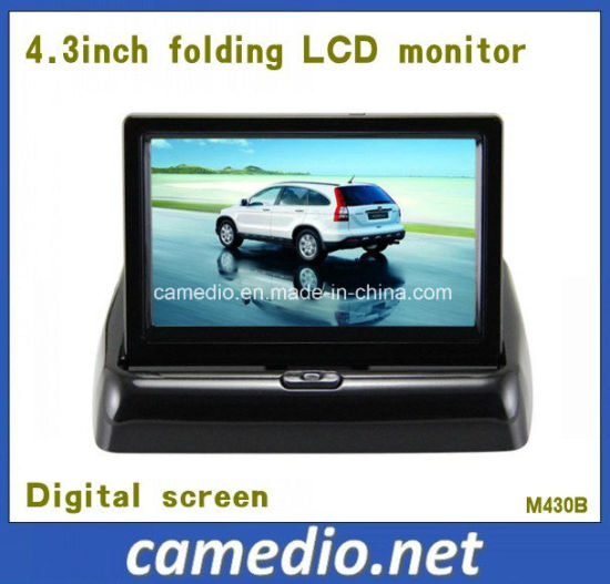 4.3inch Folding Standalone Rearview TFT Car Monitor with 2 AV Inputs&Digital Screen