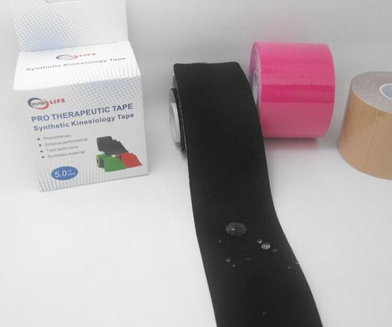 Medical Waterproof Elastic Kinesiology Precut Sport Tape (SL08-011) pictures & photos