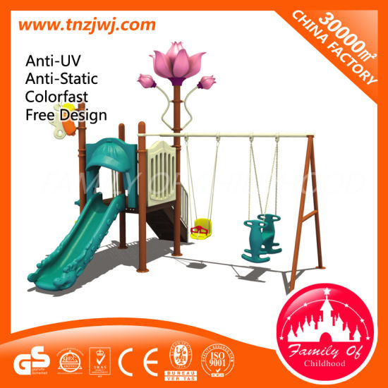 Kids Outdoor Garden Swing Metal Swing Sets with Slides pictures & photos