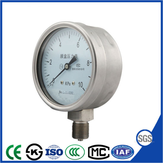 Capsule Air Vacuum Manometer Pressure Gauge with Best Price pictures & photos