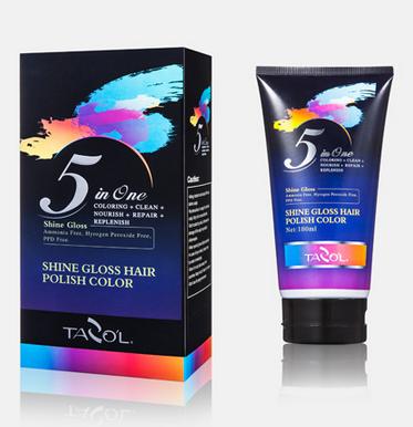 180ml Shine Gloss Polish Hair Color Pink Color Free Ammonia Cosmetic