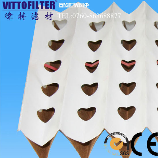 china v type fold air filter paper concertina filter for paint booth
