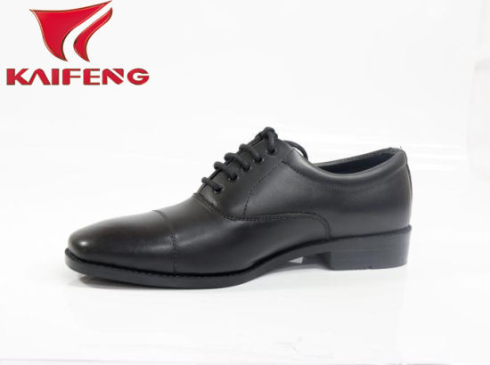 Classical Design Genuine Cow Leather Uniform Dress Shoes pictures & photos