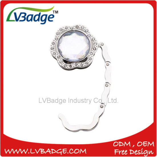 Promotion Foldable Bag Hook with Diamond for Ladies pictures & photos