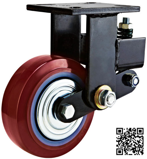 Heavy Duty Shock Absorbing PU Caster (fixed) pictures & photos