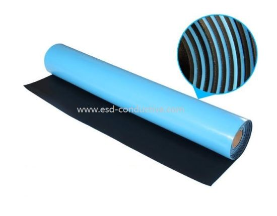 RoHS 3.0 Blue Color Anti-Static ESD Rubber Table Mat