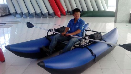 2016 One Person Inflatable Fishing Pontoon Boat pictures & photos