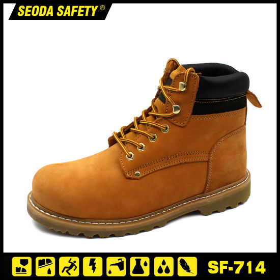 Goodyear Leather Safety Shoes with Rubber Sole (SF-714) pictures & photos