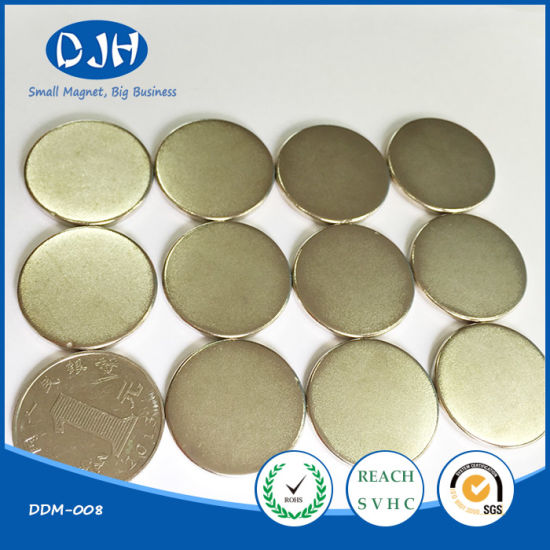 Round Shape Sintered Rare Earth Neodymium NdFeB Magnet pictures & photos