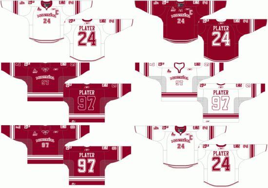 Customized Quebec Major Jr Hockey League Montreal Junior Hockey Jersey