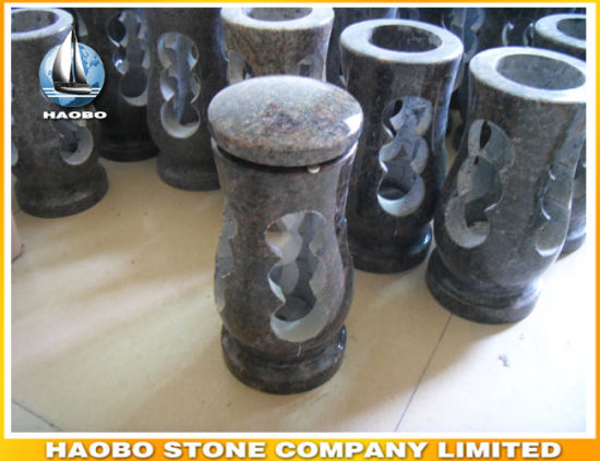 Granite Cemetery Lantern Wholesale LED Light Lamp pictures & photos