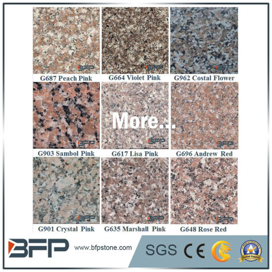 Cheap Pink Dark Stone Floor Tile Granite For Wall Stair Window Sill
