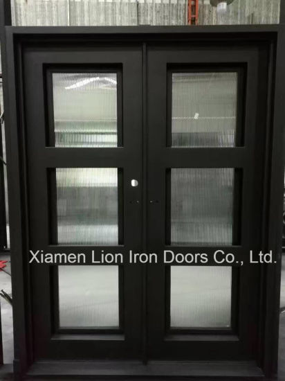 China Best Price Custom Arch Top Cast Iron Front Door Designs