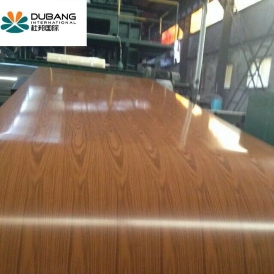 Wooden Color Steel Sheet for Building Material Made in China Factory PPGI pictures & photos