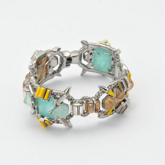 High Quality Fashion Bracelet with Jasper and IP Plating pictures & photos