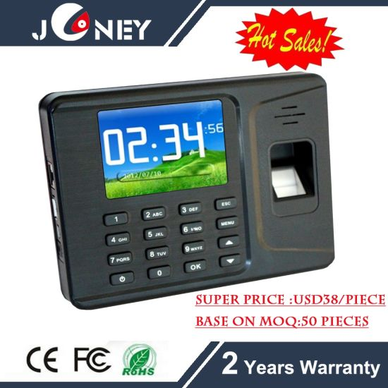 Super Cheap Fingerprint Time Attendance with 2.8 Inch TFT Color Display